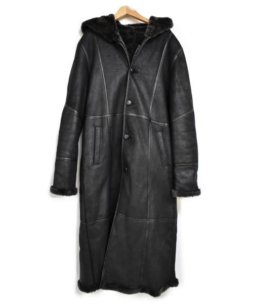 DIESELAR CLUB(ディーゼラー クラブ)DIESELAR CLUB (ディーゼラー クラブ) [古着]ムートンロングコート ブラック サイズ:Mの古着・服飾アイテム