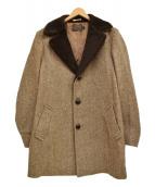 PENDLETON(ペンドルトン)の古着「ヘリンボーンロングコート」 ブラウン