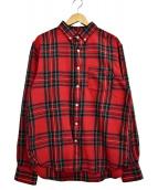 stussy(ステューシー)の古着「ボタンダウンチェックシャツ」|レッド
