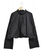 ASTRAET(アストラット)の古着「タックバルーンブラウス」 ブラック