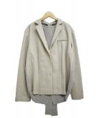 IRENE(アイレネ)の古着「バッグニットライトジャケット」|グレー