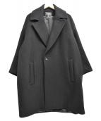 FADTHREE(ファドスリー)の古着「ダブルメルトンオーバーコート」|ブラック