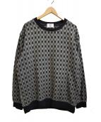 KUON(クオン)の古着「市松柄プルオーバーシャツ」|グレー×ネイビー