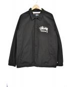 stussy(ステューシ)の古着「コーチジャケット」|ブラック