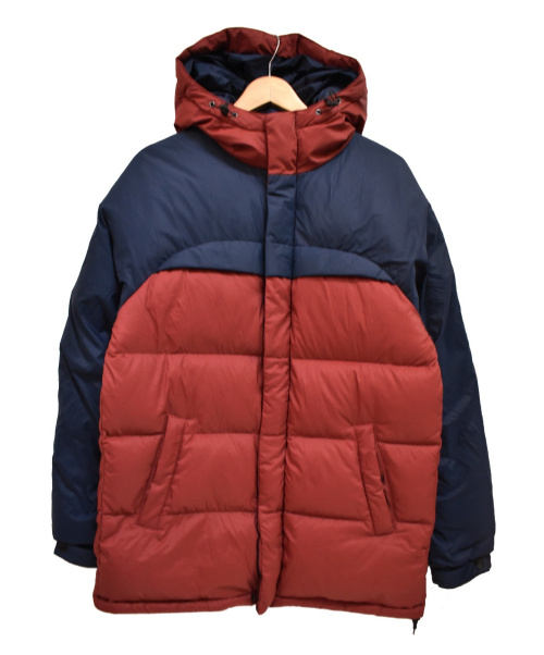 AIGLE × SQUOVAL(エーグル×スクオーバル)AIGLE × SQUOVAL (エーグル×スクオーバル) コンフォートダウンジャケット ネイビー×レッド サイズ:Mの古着・服飾アイテム