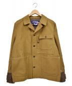 CDG JUNYA WATANABE MAN(コムデギャルソンジュンヤワタナベマン)の古着「Canvas Tweed Chore Jacket」|ブラウン