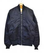 ALPHA()の古着「リバーシブルMA-1ジャケット」|ネイビー