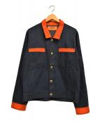 UNIVERSAL OVERALL(ユニバーサルオーバーオール)の古着「カバーオール」|オレンジ×インディゴ