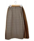 amherst(アムハースト)の古着「サイドプリーツグレンチェックスカート」|ブラウン