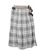 ONEIL OF DUBLIN(オニール オブ ダブリン)の古着「リネンロングスカート」|グレー