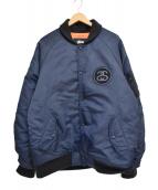 STUSSY×FRAGMENT(ステューシー×フラグメント)の古着「MA-1ジャケット」|ネイビー