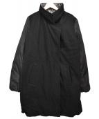 MM6(エムエムシックス)の古着「転写プリントリバーシブルコート」|ブラック×グレー