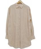 FRAMeWORK(フレームワーク)の古着「製品染めFRENCHLINEN2WAYシャツ」|ベージュ