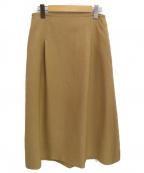 IENA()の古着「TAボンディングタックトラペーズスカート」 ベージュ