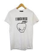 UNDERCOVER(アンダーカバー)の古着「スマイリーアップルTシャツ」 ホワイト×ブラック
