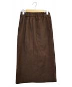 SHIPS(シップス)の古着「フェイクスウェードタイトスカート」 ブラウン