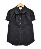 V.W. RED LABEL(ヴィヴィアンウエストウッドレッドレーベル)の古着「S/Sデザインシャツ」|ネイビー×ブラック