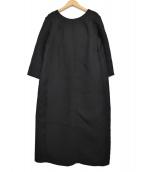ABAHOUSE(アバハウス)の古着「ストレートシルエットワンピース」|ブラック