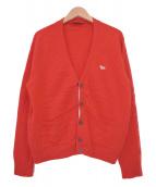 MAISON KITSUNE(メゾンキツネ)の古着「Vネックカーディガン」|レッド