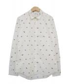 ()の古着「UFO Print Shirt」 ホワイト×グリーン