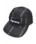 Supreme(シュプリーム)の古着「Reflective Text Camp Cap」 ブラック
