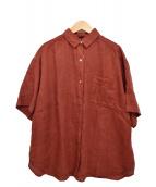 JOURNAL STANDARD relume(ジャーナルスタンダードレリューム)の古着「製品染めS/Sリネンシャツ」|ブラウン