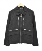 LOUNGE LIZARD(ラウンジリザード)の古着「ジップジャケット」|ブラック