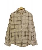 nestrobe confect(ネストローブ コンフェクト)の古着「コットンチェックシャツ」 ベージュ