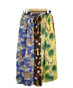 BEAMS×SUNSURF(ビームス×サンサーフ)の古着「ハワイアンクレイジーロングスカート」|マルチカラー
