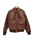 Pherrow's(フェローズ)の古着「TYPE-A2レザージャケット」|ブラウン
