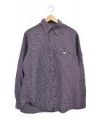 EMPORIO ARMANI EA7(エンポリオ アルマーニ イーエーセブン)の古着「ワンポイントロゴシャツ」|レッド×ネイビー