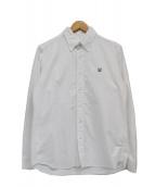 uniform experiment(ユニフォームエクスペリメント)の古着「ワンポイントロゴボタンダウンシャツ」|ホワイト