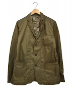 ()の古着「2 LAYER NYLON 3 BUTTON JACKET」|カーキ