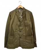 uniform experiment()の古着「2 LAYER NYLON 3 BUTTON JACKET」|カーキ