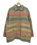 LAUREN RALPH LAUREN(ローレン ラルフローレン)の古着「90`Sネイティブラグジャケット」|グリーン×ベージュ