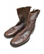 BUTTERO(ブッテロ)の古着「サイドジップブーツ 」 ブラウン