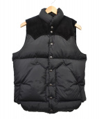 RockyMountainFeatherBed(ロッキーマウンテンフェザーベッド)の古着「SUEDE YORK DOWN VEST」|ブラック