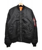 ALPHA(アルファ)の古着「MA-1 TIGHTミリタリーフライトジャケット」|ブラック