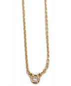Tiffany & Co.(ティファニー)の古着「ダイヤモンドバイザヤードネックレス」|ローズゴールド