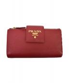 PRADA(プラダ)の古着「2つ折り財布」|レッド