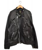 Schott(ショット)の古着「ダブルブレストライダースジャケット」|ブラック