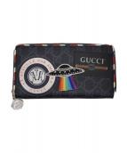 GUCCI(グッチ)の古着「長財布」|ブラック×レッド