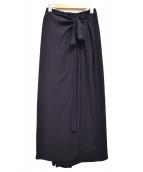 TIARA(ティアラ)の古着「ウエストギャザーラップパンツ」|ネイビー