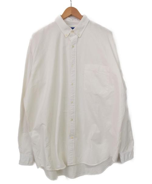BEAMS(ビームス)BEAMS (ビームス) ヘビーオックスイージーボタンダウンシャツ ホワイト サイズ:L 秋物の古着・服飾アイテム