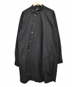 COMME des GARCONS HommePlus(コムデギャルソンオムプリュス)の古着「18AW 捻れ変形ロングシャツ」|ブラック