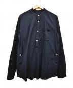 UNDERCOVER()の古着「16AW ストライプドビーPOシャツ」|ネイビー