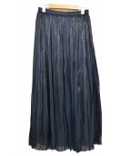 FRAMeWORK(フレームワーク)の古着「トロミプリーツスカート」|ネイビー