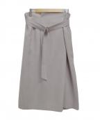 22 OCTOBRE(22オクトーブル)の古着「ベルト付タイトスカート」|グレー