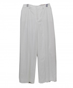 Viaggio Blu(ビアッジョブルー)の古着「ヨリ杢ワイドパンツ」 ホワイト