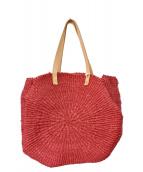 GALERIE VIE(ギャラリーヴィ)の古着「天然草木カゴバッグ」|ピンク